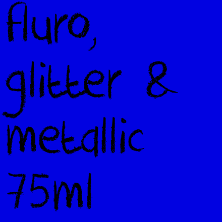 Picture for category Fluro, Glitter & Metallic 75ml