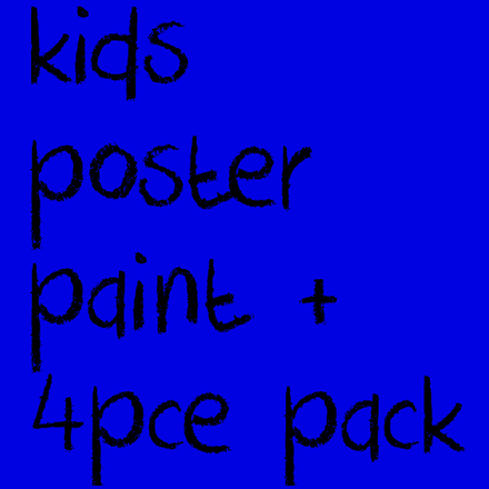 Picture for category Kids Poster Paint + 4pce pack